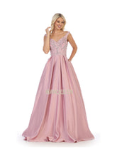 Mayqueen Size Chart E MQ 1632 - A-Line Beaded Bodice Ballgown with Sweetheart Neck Satin Skirt & Pockets - Diggz Prom