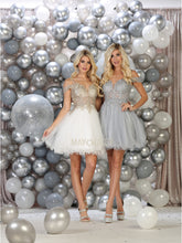 Mayqueen Size Chart E MQ 1668 - Cold Shoulder A-Line Tulle Homecoming Gown with Mesh Embroidered Bodice - Diggz Prom