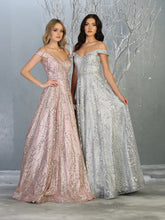 Mayqueen Size Chart E MQ 1703 - A-Line Glitter gown with cold shoulder with diamond belt. - Diggz Prom
