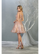 MQ 1757 - Off the Shoulder Homecoming Dress with Glitter Design