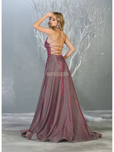 Mayqueen Size Chart E MQ 1776 - A-Line Glitter Formal Gown with Strappy Back and Pockets - Diggz Prom