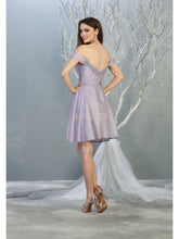 MQ 1788 - Off the Shoulder Homecoming Gown with Embroidered Bodice & Sweetheart Neckline