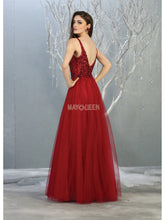 MQ 1798 - A Line Prom Gown with Beaded Bodice & Tulle Layered Skirt