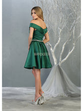MQ 1815 - Off the Shoulder Homecoming Dress with Beaded Belt and Pockets - Diggz Prom