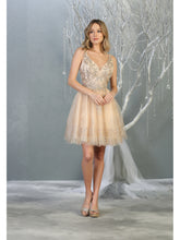 MQ 1817 - Tank Style Homecoming Dress with Glitter Embellishments & Tulle Skirt - Diggz Prom
