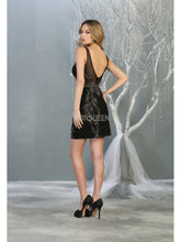 MQ 1828 - Fitted Tank Style Homecoming Dress with Applique & Open Back - Diggz Prom