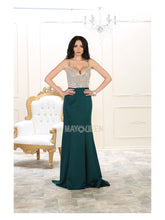 Mayqueen Size Chart E MQ 7054- Sequin Embellished Mermaid Prom Dress with Spaghetti Straps - Diggz Prom