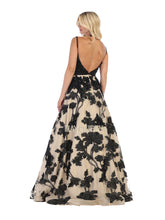 Mayqueen Size Chart E MQ 7636 - Beaded A-Line with Floral Beaded Skirt - Diggz Prom
