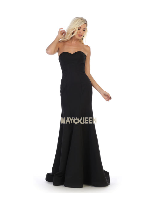Mayqueen Size Chart E MQ 7703 - Strapless Jersey Gown With Sweetheart Neckline - Diggz Prom