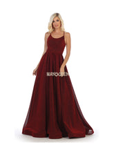 Mayqueen Size Chart E MQ 7724 - A-Line Spaghetti Strap Gown with Strappy Back - Diggz Prom