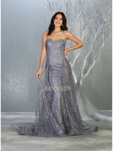 Mayqueen Size Chart E MQ 7815 - A-line prom gown with sweetheart neckline and layered skirt. - Diggz Prom