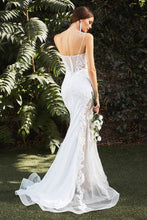 CD CD937W - Mermaid Wedding Gown with Detailed Corset Bodice & Tulle Illusion Skirt