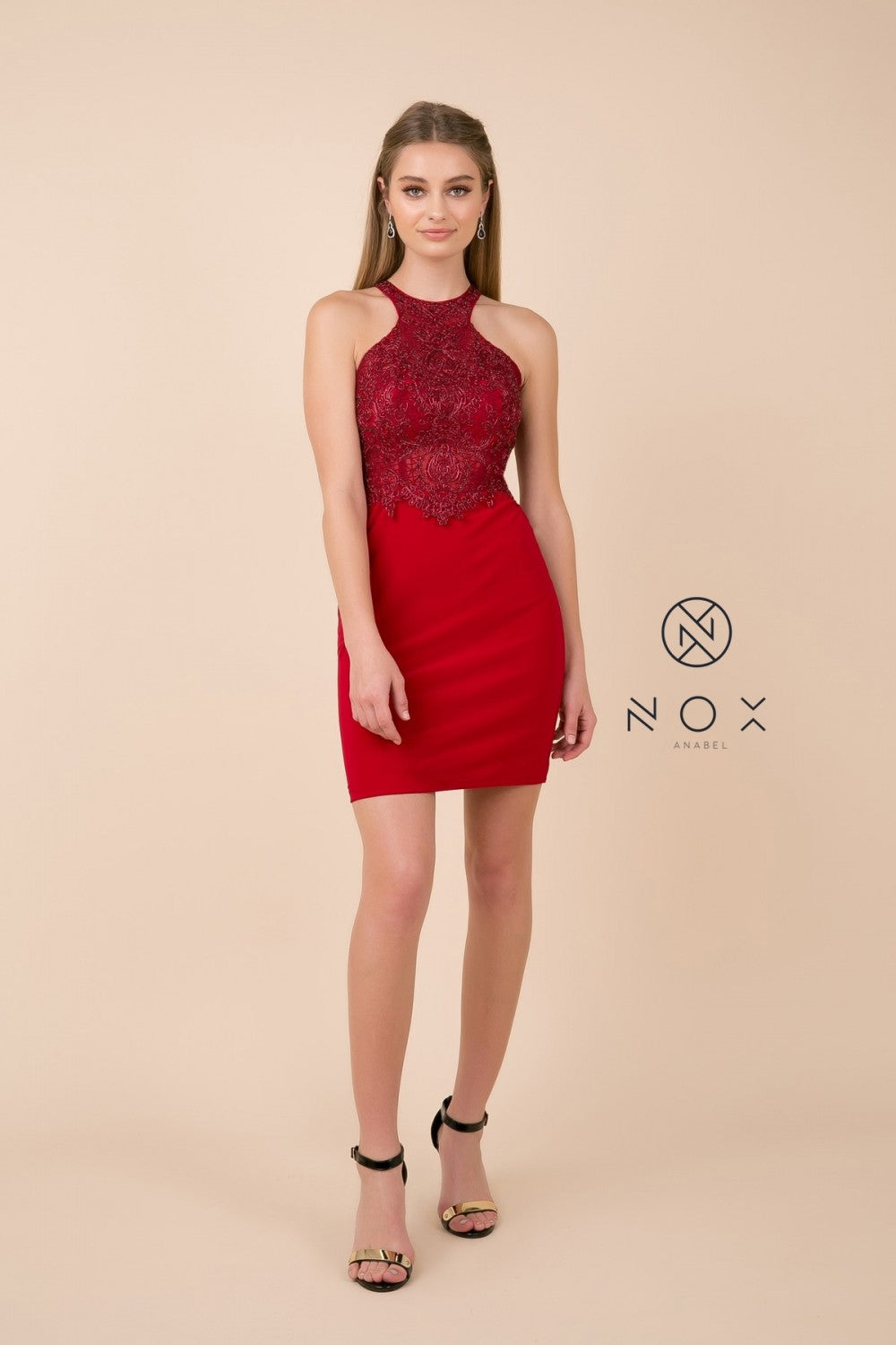 red homecoming dresses bodycon