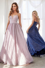 Cinderella Divine Chart I CD J796 -  Glitter Metallic Ballgown with Lace Up Corset Back & Pockets - Diggz Prom