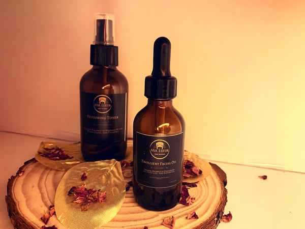 Restoring Toner and Emollient Facial Oil Duad