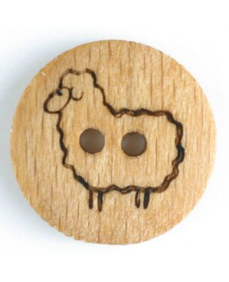Wood Sheep Button