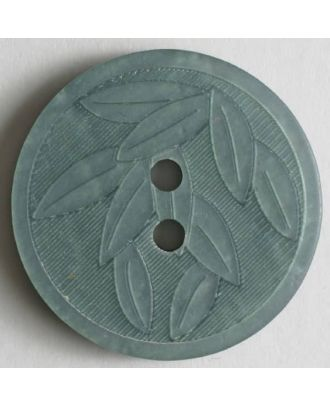 Green Embossed Leaves Button