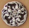 Metal Flower Button