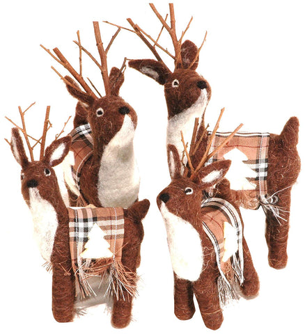 Reindeer Winter Holiday Decoration