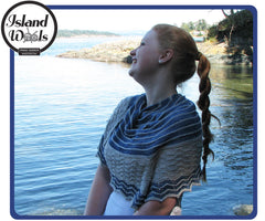 White Capped Waves Shawl