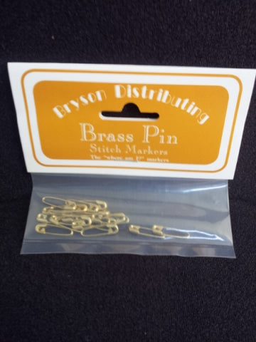 Bryson Coiless Brass Pin Stitch Markers