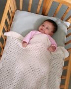 Fiber Trends Tulle Lace Baby Blanket (CH52)