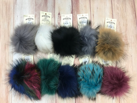 Real Raccoon Fur Pompoms
