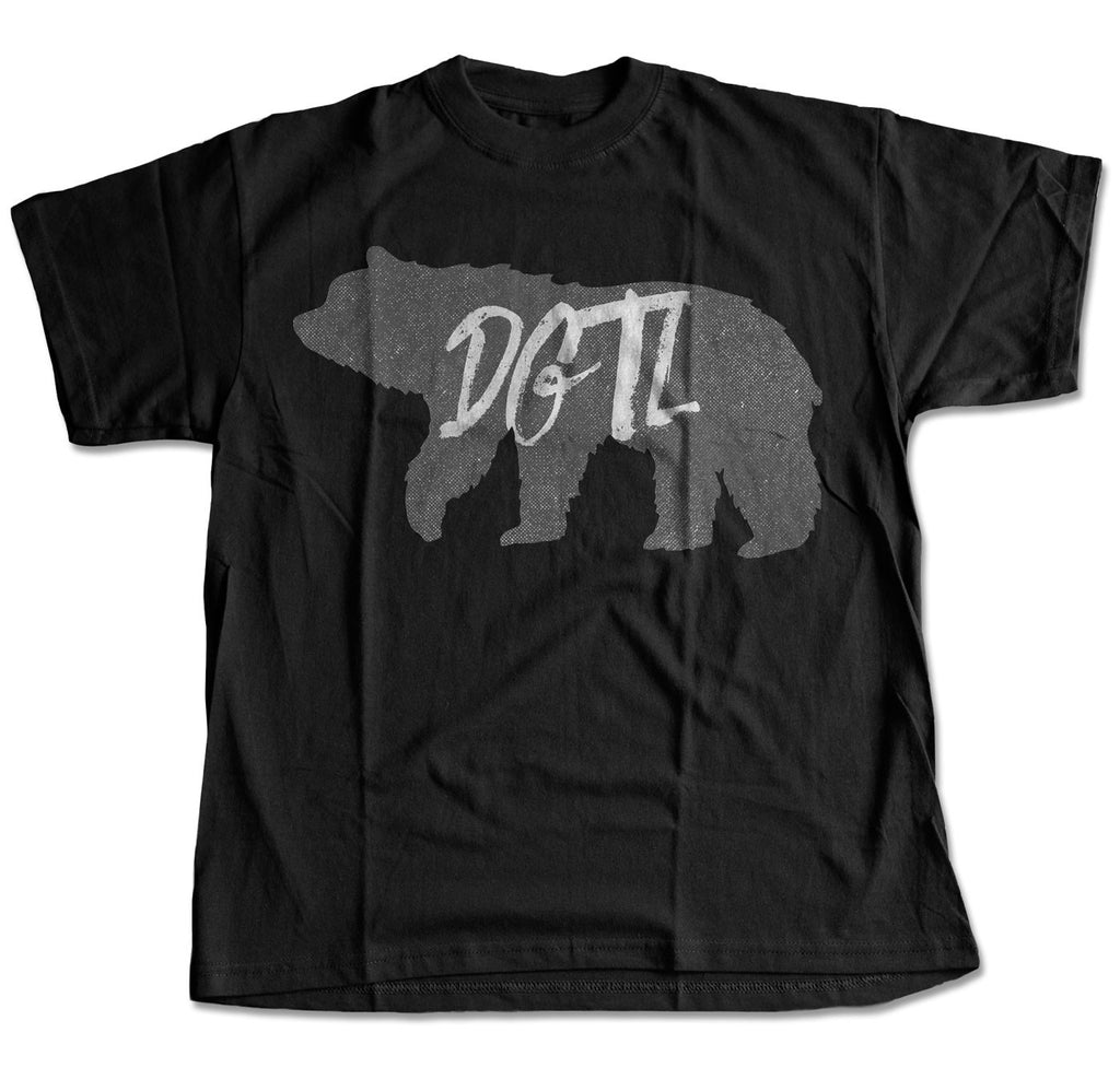 Black & Grey Illustrated Bear T-Shirt