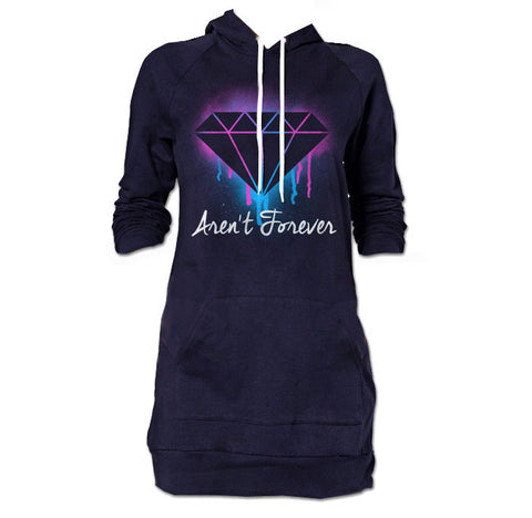 Diamonds Aren't Forever Hoodie Dress