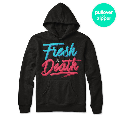 Fresh Til Death (Red & Blue) Hoodie