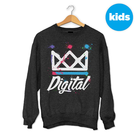 Digital Splatter Crown Sweater