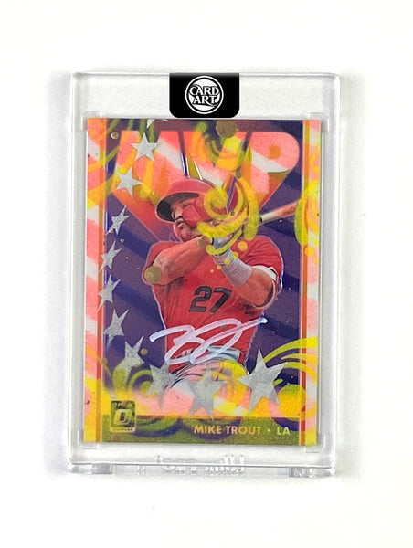 Mike Trout - WHITE AUTO 1/1 by Blake Jamieson