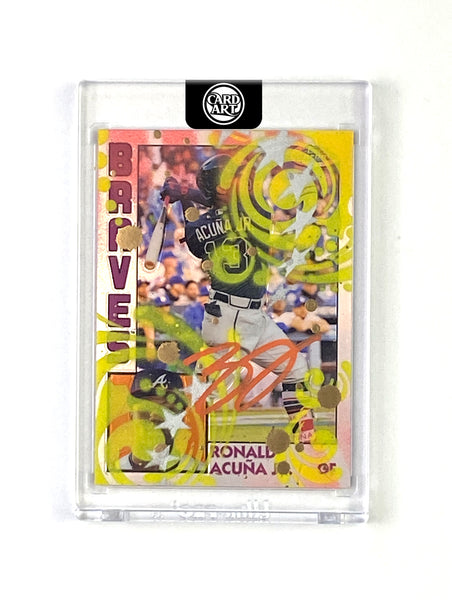 Ronald Acuna - ORANGE AUTO 1/1 by Blake Jamieson