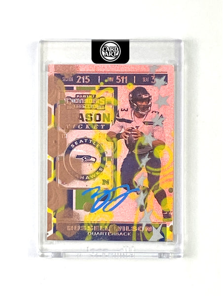 Russell Wilson - LIGHT BLUE AUTO 1/1 by Blake Jamieson
