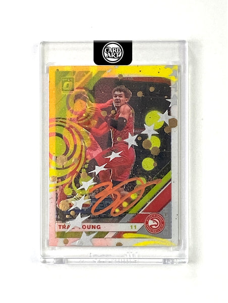 Trae Young -  ORANGE AUTO 1/1 by Blake Jamieson