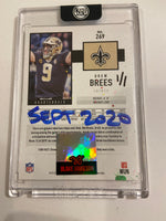 Drew Brees Blue AUTO 1/1 by Blake Jamieson