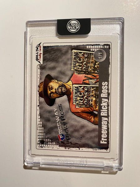 Freeway Ricky Ross - Signed 1/1 CardArt - By Hollywu Desai