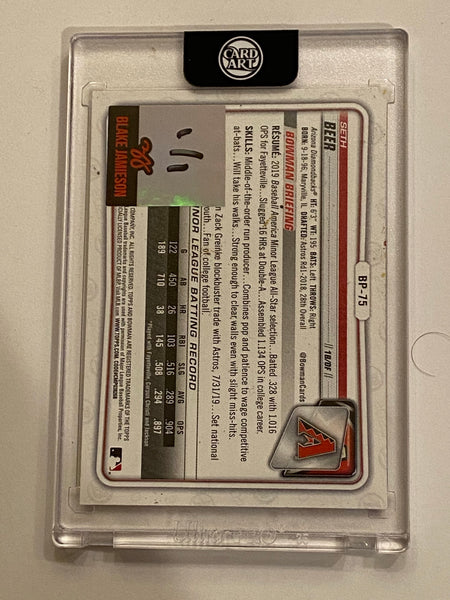 Seth Beer - Silver Chrome AUTO 1/1 by Blake Jamieson