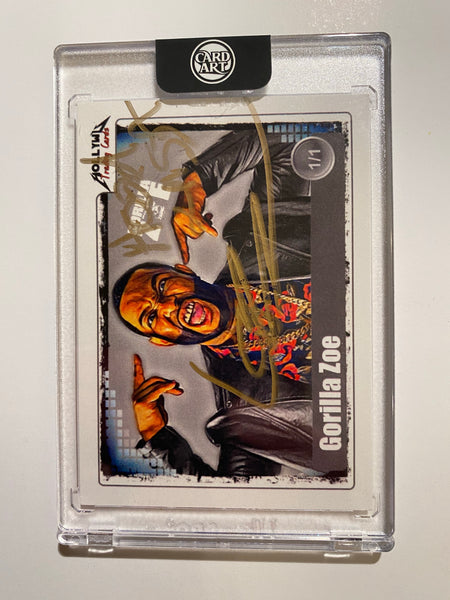 Gorilla Zoe - Signed 1/1 CardArt - By Hollywu Desai