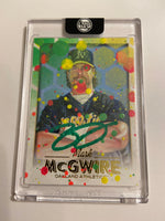 Mark McGwire - Green AUTO 1/1 by Blake Jamieson