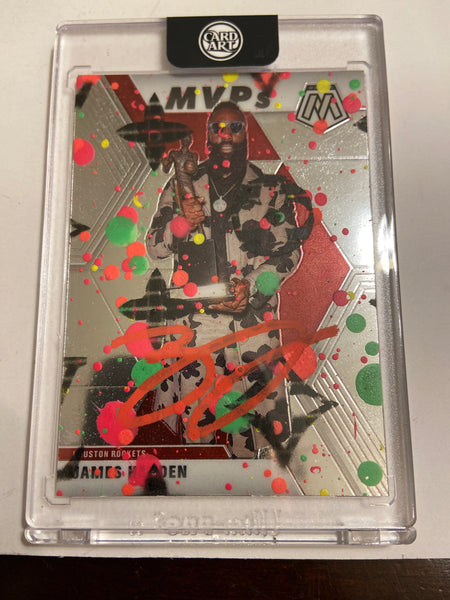 James Harden- RED AUTO 1/1 by Blake Jamieson