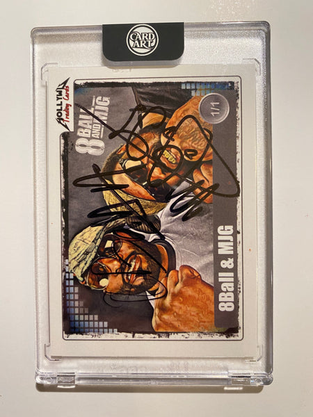 8Ball and MJG - Signed 1/1 CardArt - By Hollywu Desai