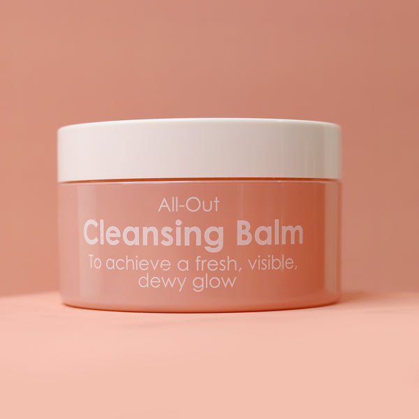 All- Out Cleansing Balm (To achieve a fresh, visible, dewy glow.)