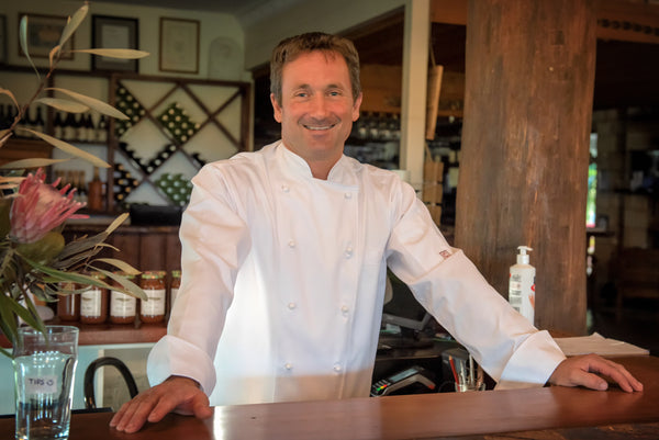Chef Scott Biswell at Driftwood Winery