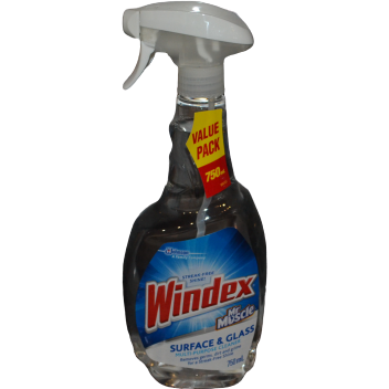 Windex Mr Muscle Glass and Multi Surface Cleaner - 750ml
