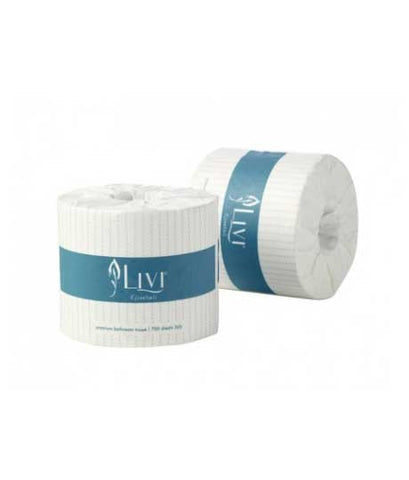 Livi Essentials Embossed Toilet Paper - 2 Ply, 48 Rolls