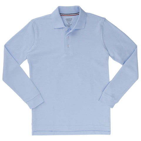 Long Sleeve Pique Polo Husky Sizes (5 Colors)