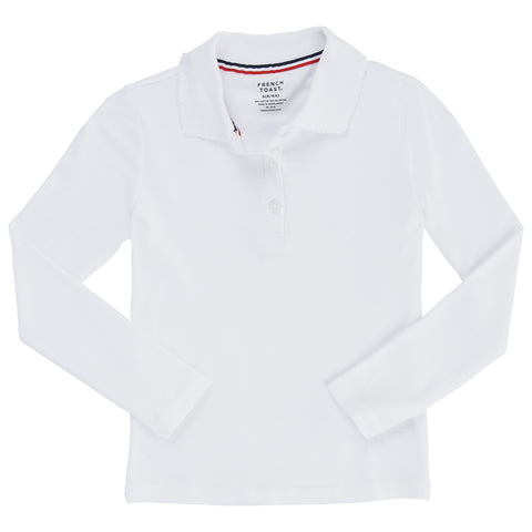 Long Sleeve Polo Shirt with Lace Trim Plus Sizes (6 Colors)