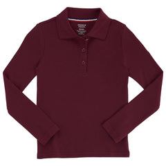 Long Sleeve Polo Shirt with Lace Trim Sz XS-XXL (6 Colors)