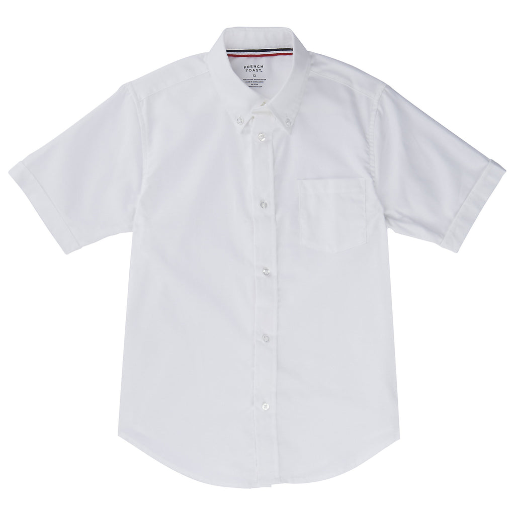 Short Sleeve Oxford Shirt Husky Sizes (2 Colors)